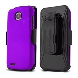 BC Pantech Marauder R910L 3-in-1 Combo Set Protex Case and Holster Beltclip with Screen Protector - Purple