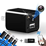 [2019 Upgrade] Spy Camera Wireless Hidden WiFi Camera with Remote View,Hidden Spy Camera 1080P HD Nanny Cam Spy Hidden Camera Charger Recorder Motion Activated,Wireless Spy Camera Support iOS/Android