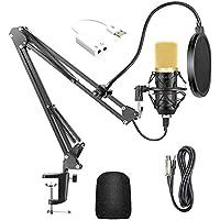 USB Streaming PC Microphone, Professional Studio Broadcasting & Recording Microphone Set, JORAGO Professional BM700…