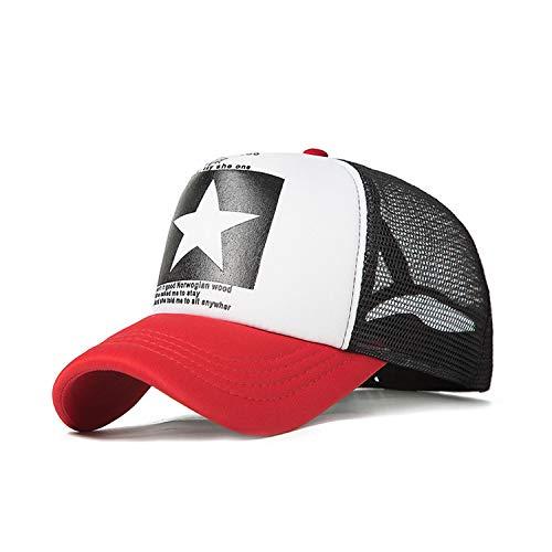 野球帽女性屋外野球帽通気性の男性の女性サマーメッシュキャップ野球帽キャップ,A