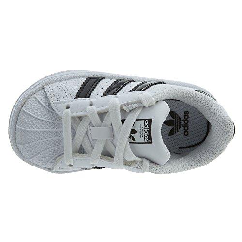 buy online b0ce3 c64f7 J Nero Ragazzo Da Ginnastica Scarpe Bianco Adidas Superstar HvZqzz