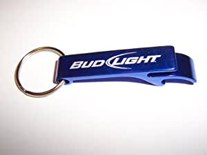Bud Light Blue Metal Bottle Opener Keychain