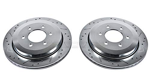 Power Stop AR85124XPR Rear Evolution Drilled & Slotted Rotor Pair (Slotted Rotor Lincoln Navigator)