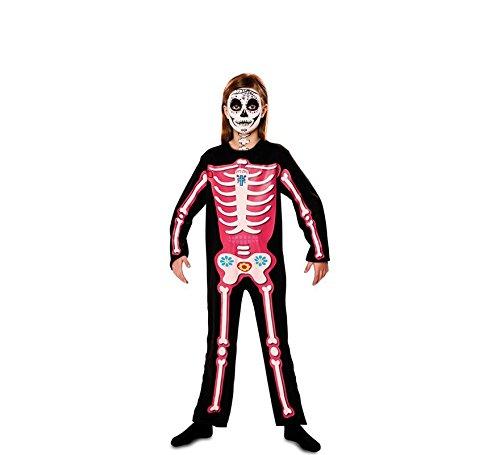 Disfraz del Día de los Muertos Rosa para niña: Amazon.es: Juguetes ...