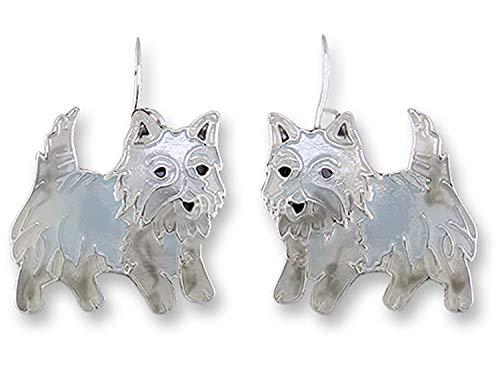 West Highland Terrier Earrings by Zarlite 1908 Z1