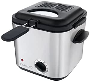 Euro-Pro F1042 Compact 2-Cup Stainless-Steel Deep Fryer