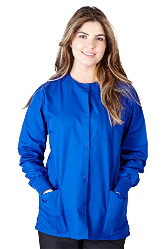 Warm Up Uniforms (Natural Uniforms Women's Warm Up Jacket (Dark Royal Blue) (Medium) (Plus Sizes)