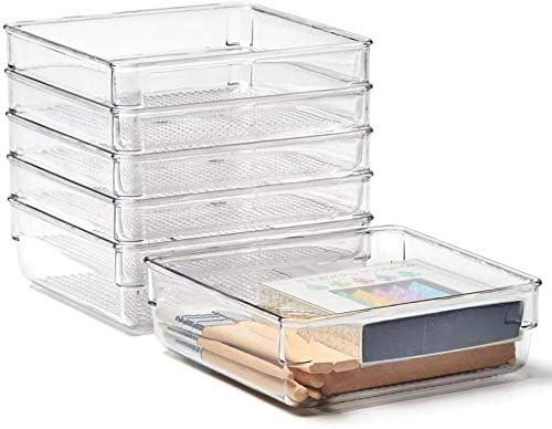 Plastic Drawer Desk Draw Storage Tray Office//Home Kitchen Organizer Box