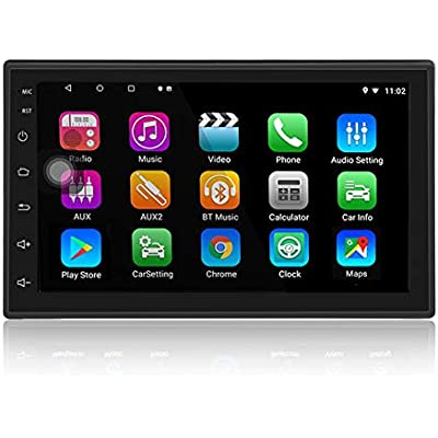 LEXXSON Android 8 1 Car Stereo Din GPS Navigation Bluetooth inch Touch Screen RAM 32G ROM Car Radio Multimedia Player Support Mirror Link WIFI USB RDS AUX Subwoofer