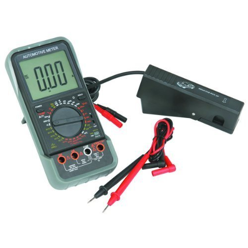 LCD Automotive Multimeter with Tachometer Kit: Black and Red Test Leads, Bead Probe, Spark Plug Signal Pickup Clamp, 9 V Battery, Hard Shell Carry Case, Automatic Shutoff by - Pickup Ac Signal