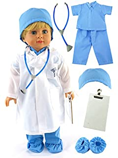 Dolls Accessories Strong-Willed Handmade Mini Doctors Wears Hospital Uniform Clothes For 18inch Toys Clothes And Accessories