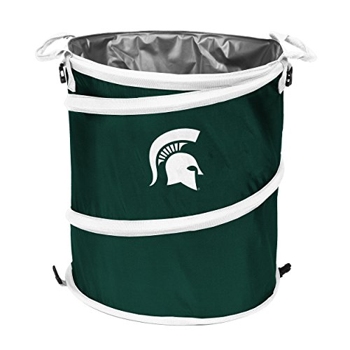 NCAA Michigan State Spartans 3-n-1 Collapsible Trash Can, (Michigan Wastebasket)