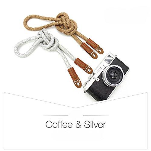 LXH Cotton Camera Wrist Strap Soft Cotton with Leather Camera Shoulder Neck Strap,DSLR SLR universal shoulder strap suitable Short Strap-Black