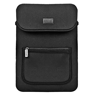 """USA GEAR FlexARMOR Neoprene 12"""" Tablet Case Front Zippered Accessory Pocket, Rear Carrying Handle & Scratch-Resistant Interior Lining - Works HP Pro Tablet 10 & More 12 Inch Tablets"""