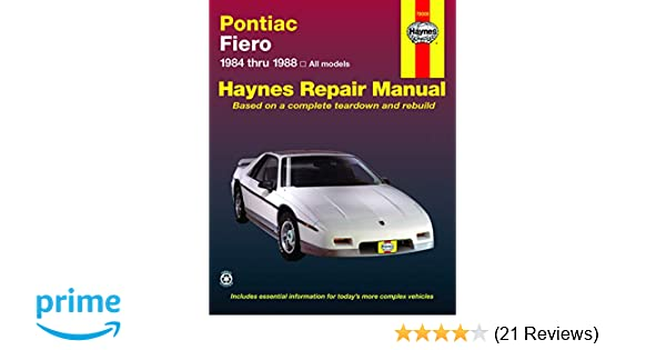 pontiac fiero '84'88 (haynes repair manuals): haynes: 9781850106166:  amazon com: books