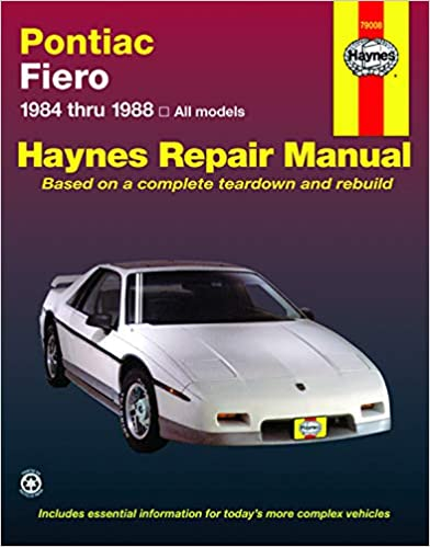 pontiac fiero '84'88 (haynes repair manuals) 1st edition