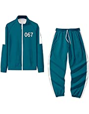 Squid Game Merch Hoodie Pants Two Piece Set Squid Game 067 456 Tracksuits