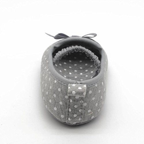 Voberry Newborn Baby Infant Girls Bow Tie Leopard Flat Shoes Crib Shoes Prewalker