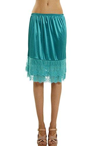 [Shop Lev] Double Layered Satin Skirt Extender / Half Slip (LARGE, (Jade Satin Garter)