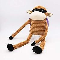 ZippyPaws - Halloween Crinkle Monkey Dog Toys - SuperMonkey - Plush Crunchy Dog Toys