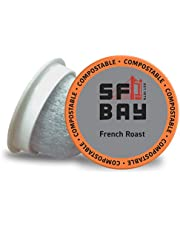 SF Bay Coffee OneCUP French Roast/Dark Roast 80 Ct Compostable Coffee Pods, K Cup Compatible Including Keurig 2.0 (Packaging May Vary)