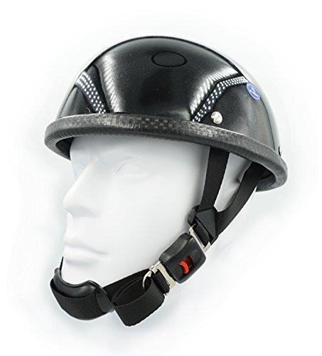 Hot Rides Classic Chopper Biker Motorcycle Helmet Novelty For Cruiser Harley Scooter ATV Turtle Gloss Black (Large)