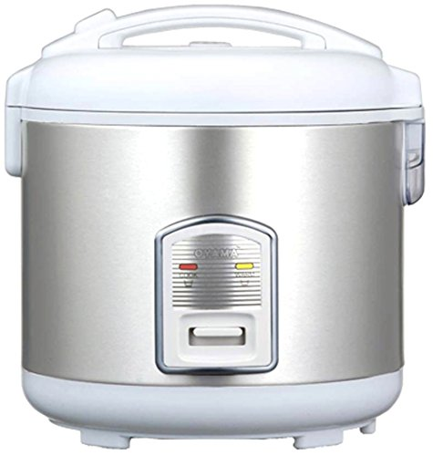 Oyama CFS-F18W 10 Cup Rice Cooker, Stainless White (Oyama 10 Cup Stainless Steel Rice Cooker)