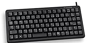 Cherry Compact keyboard, Combo (USB + PS/2), FR - Teclado (Combo (USB + PS/2), FR, USB+PS/2, QWERTY, Negro, 1,75m, 0 - 50 °C, 282 x 132 x 27 mm)