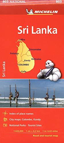 (Michelin Sri Lanka Road & Tourist Map 803)
