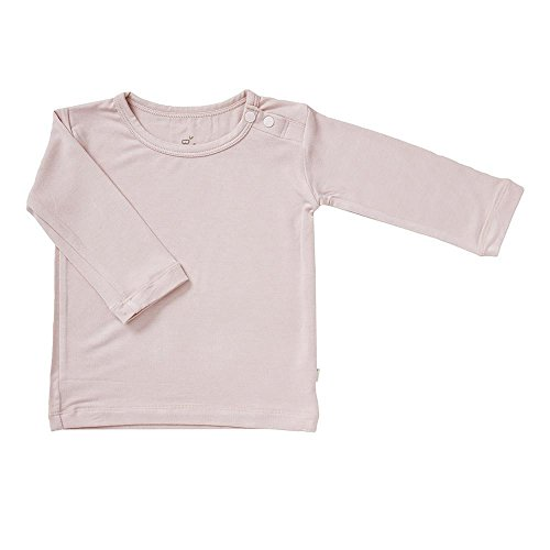 Boody Body Baby EcoWear Long Sleeve Top - Soft Cooling Infant Shirt made from Natural Organic Bamboo - Soft Breathable Eco Fashion for Sensitive Skin - Rose Pink, 3-6 months
