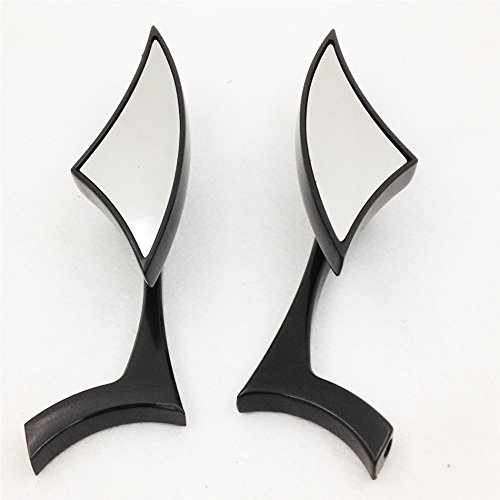 Motorcycle Black Spear Blade Mini Mirrors For Harley Davidson Sportster Dyna Softail