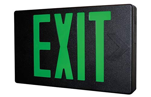 Black LED Exit Sign with Green Letters by Carpenter Lighting (Image #1)