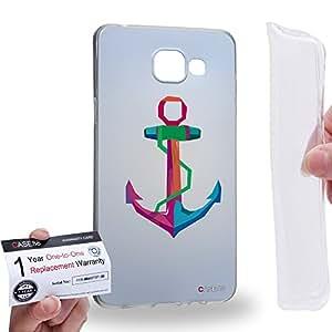 Case88 [Samsung Galaxy A5 (2016)] Gel TPU Carcasa/Funda & Tarjeta de garantía - Art Hope Cubist Pop Art Art1467