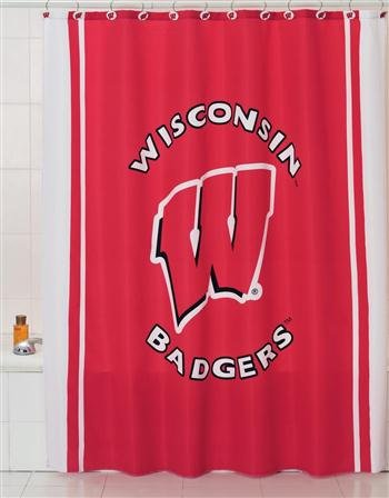 Belle View 9832 Wisconsin Badgers Shower Curtain