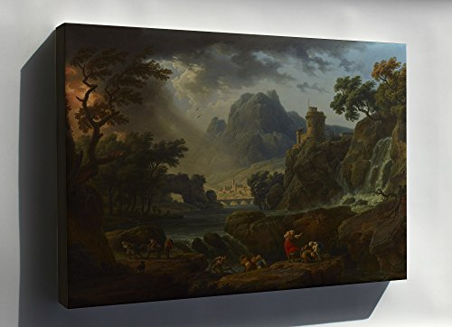 Canvas 16x24; A Mountain Landscape With An Approaching Storm By Claude Joseph Vernet