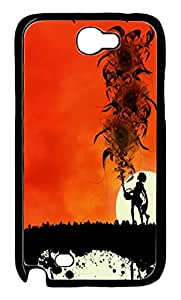 iCustomonline Sunset Abstract Hard Back Protective Cover Case for Samsung Galaxy Note 2 N7100 PC Material Black