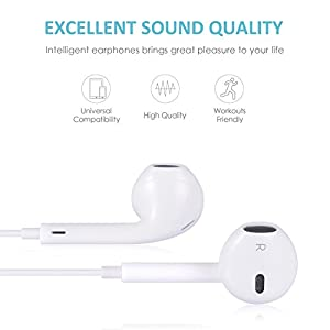 White Phone Headphones and Noise Isolating Headset Earbud… by my-handy-design