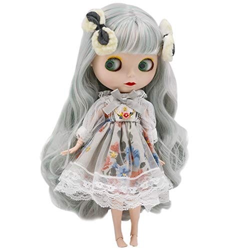 1/6 BJD Doll is Similar to Neo Blythe, 4-Color Changing Eyes Matte Face and Ball Jointed Body Dolls, 12 Inch Customized Dolls Can Changed Makeup and Dress DIY, Nude Doll Sold Exclude Clothes (SNO.49)