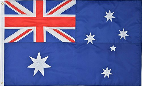Green Grove Products Australian Flag 2' x 3' Ft 210D Nylon Premium Outdoor Embroidered Australia Flag