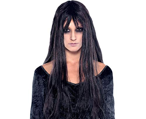 Ghoulish Wig Halloween Costume Accessories, Dark Gray, One Size, by Amscan ()