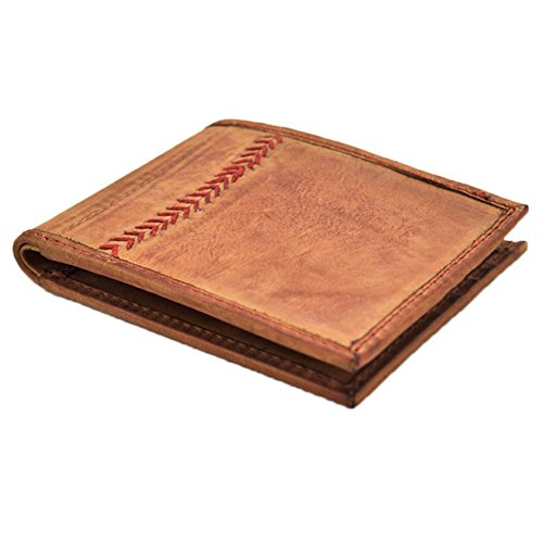 Rawlings Men's Baseball Stitch Bifold, Tan