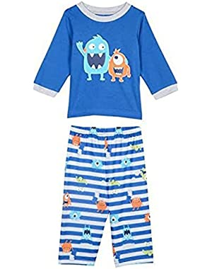 Little Boys Monster Pajama Set
