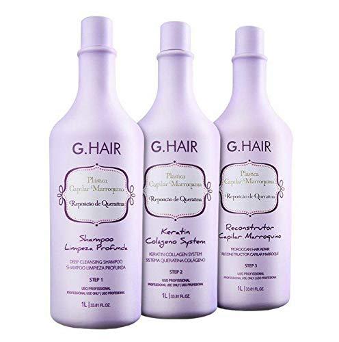 G.HAIR - Plastica Capilar Marroquina (3 Steps) 33.8oz / 1L each
