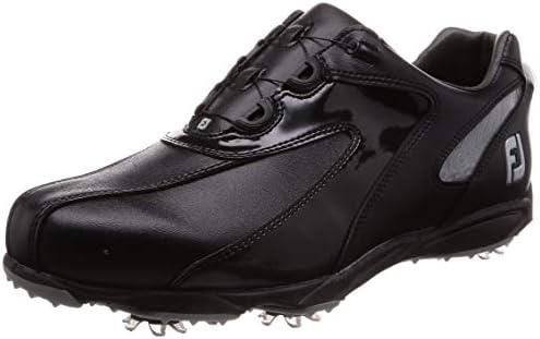 ゴルフシューズ EXL SPIKE Boa メンズ ブラック/シルバー (19) 25.5 cm 3E 45190J M