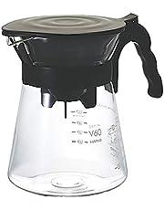 Hario V60 All in One zestaw do kapania kawy, serwerów i filtrów, czarny, rozmiar 02, szkło borokrzemowe