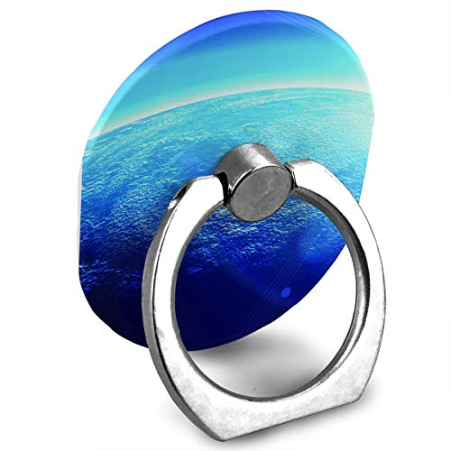 Oval Universal Cosmic Blue Sunlight Ring Holder for Mobile Phones,360 Degree Rotation,Ring Finger Holder for Hairpin,Mobile Phone Ring for Car,Smart Phone Ring Holder ()