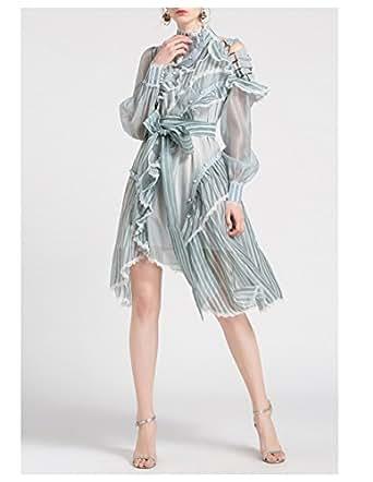 Moda&Nova Women's Fashion Collar Irregular Design Long