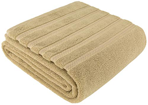 American Soft Linen Premium, Luxury Hotel & Spa Quality, 35x70 Extra Large Jumbo Size Bath Towel, Bath Sheet Cotton for Maximum Softness and Absorbency, [Worth $34.95] Sand Taupe