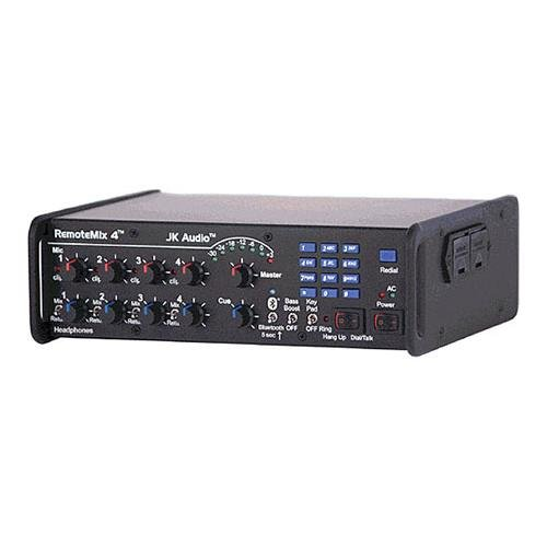 JK Audio RemoteMix 4 Portable Broadcast Mixer with Phone Line Hybrid, PBX Handset & 2.5mm Cell Phone Interface, Bluetooth
