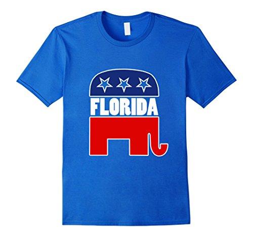 Mens Florida republican shirt GOP elephant logo tshirt Medium Royal (Gop Republican Elephant)